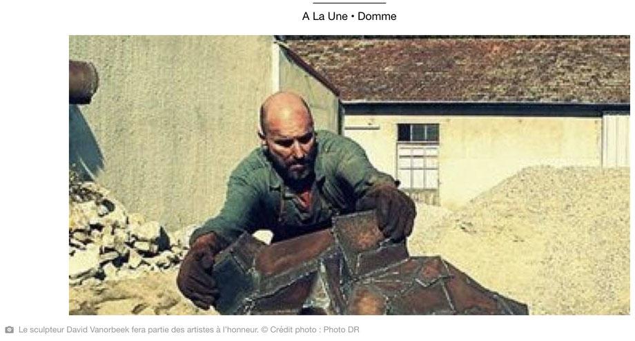 """""""Pas à pas"""", l'art contemporain, David Vanorbeek, sculptures monumentales en métal"""