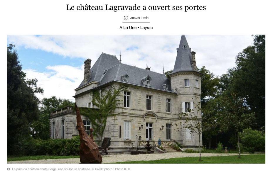 Château de Lagravade, exposition de Natalie Magnin et de David Vanorbeek, Layrac