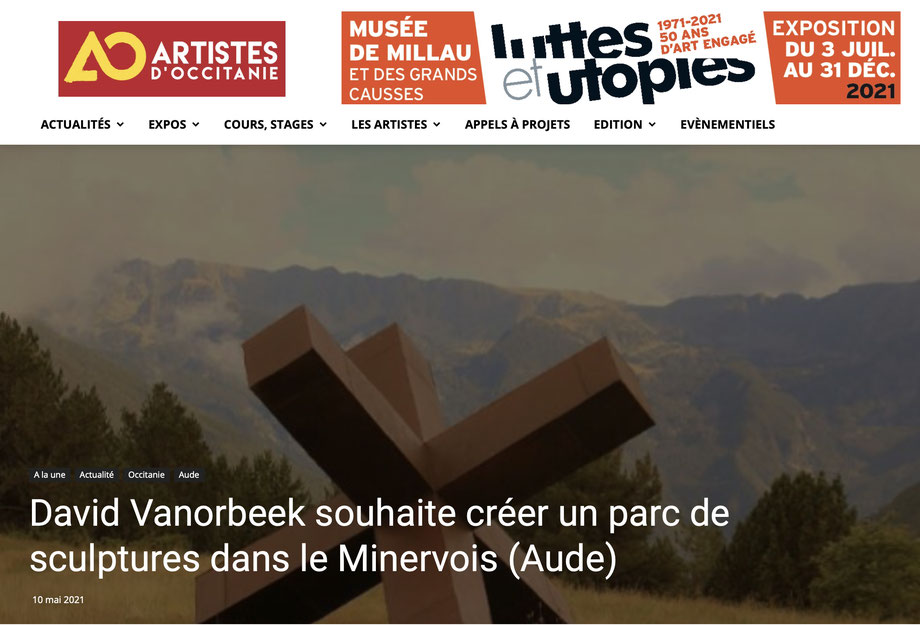Parc de Sculptures Minervois Corbières David Vanorbeek Sculpteur