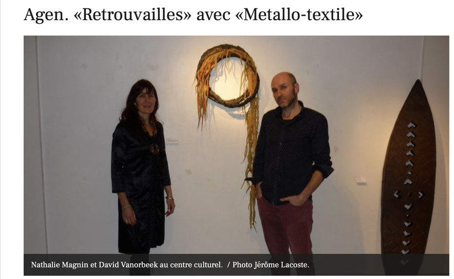 MetalloTextile projet d'art de Natalie Magnin et de David Vanorbeek, artistes en France