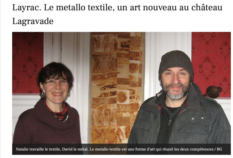 MetalloTextile, projet d'art de Natalie Magnin et David Vanorbeek, artistes en France