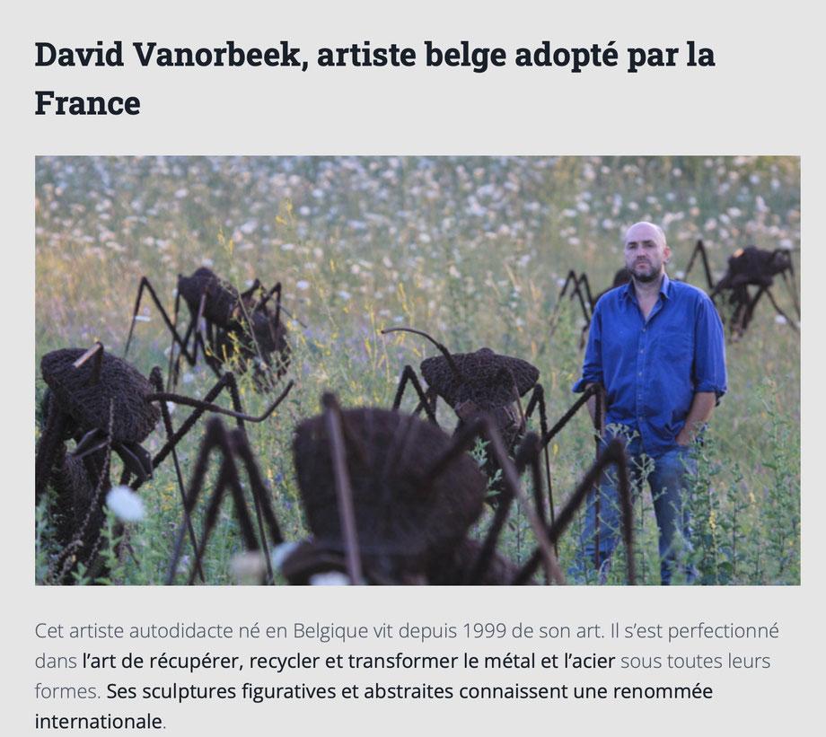 artiste autodidacte Belge vit de son art