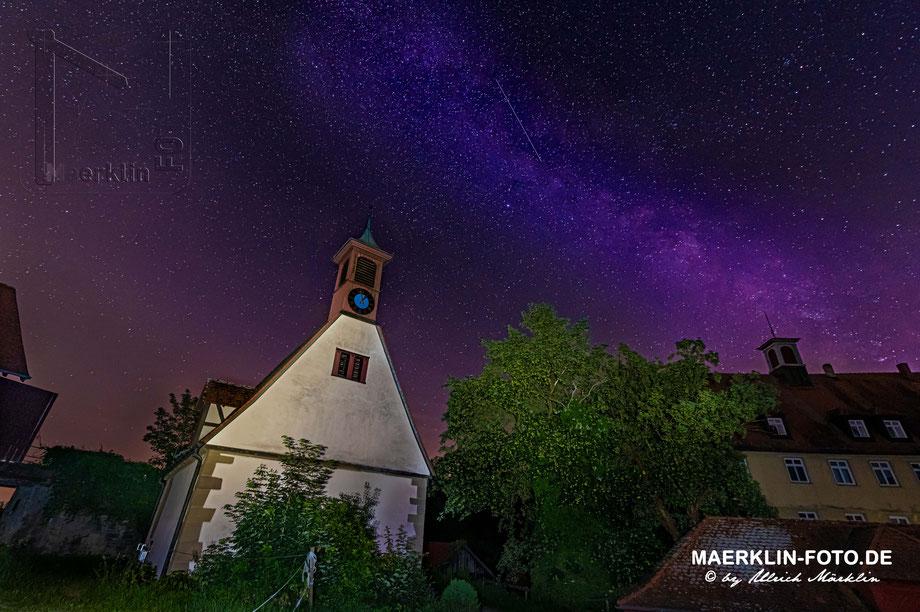 Milchstraße, Sindlingen im Heckengäu: Mauritiuskapelle und Schloss