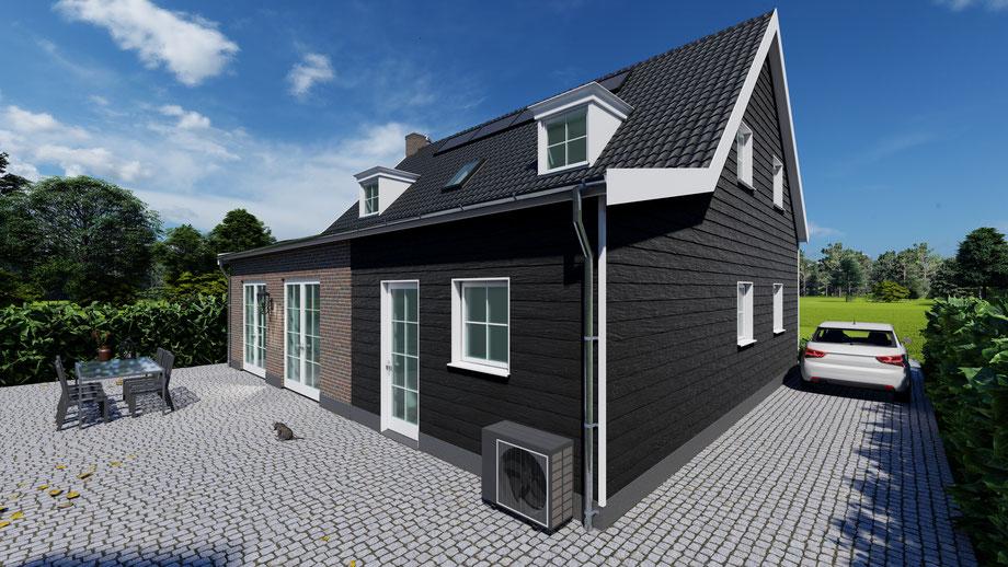 3D ontwerp Zeeuwse boerderijwoning Wolphaartsdijk