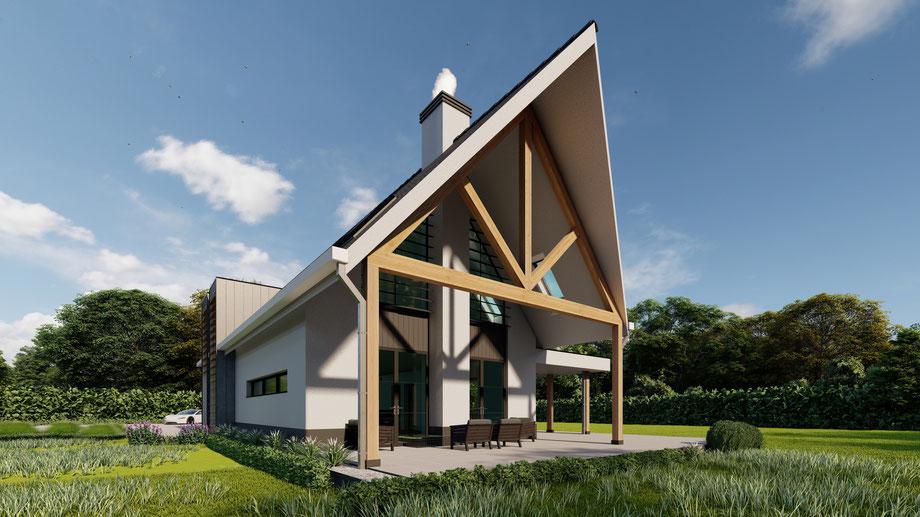 Ontwerp Luxe moderne villa in Baarland