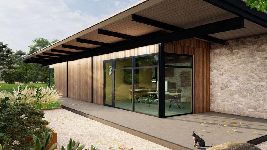 Luxe tuinkantoor Verliva | Goes, Zeeland