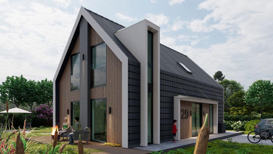 3D ontwerp schuurwoning te Zevenhuizen