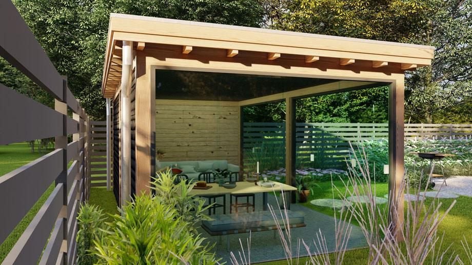 3D Ontwerp douglas tuinkamer | Kapelle, Zeeland
