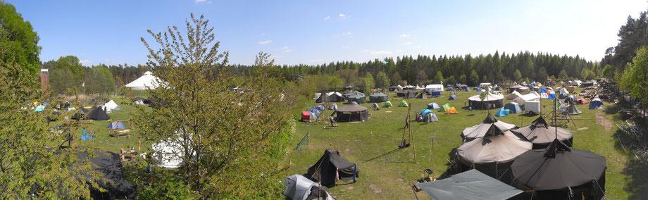Pfadinderlager zu Christi Himmelfahrt auf dem Campingplatz in Friedensau 2016