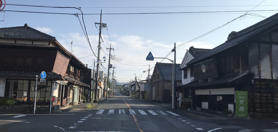 桐生市本町2丁目の古い町並み