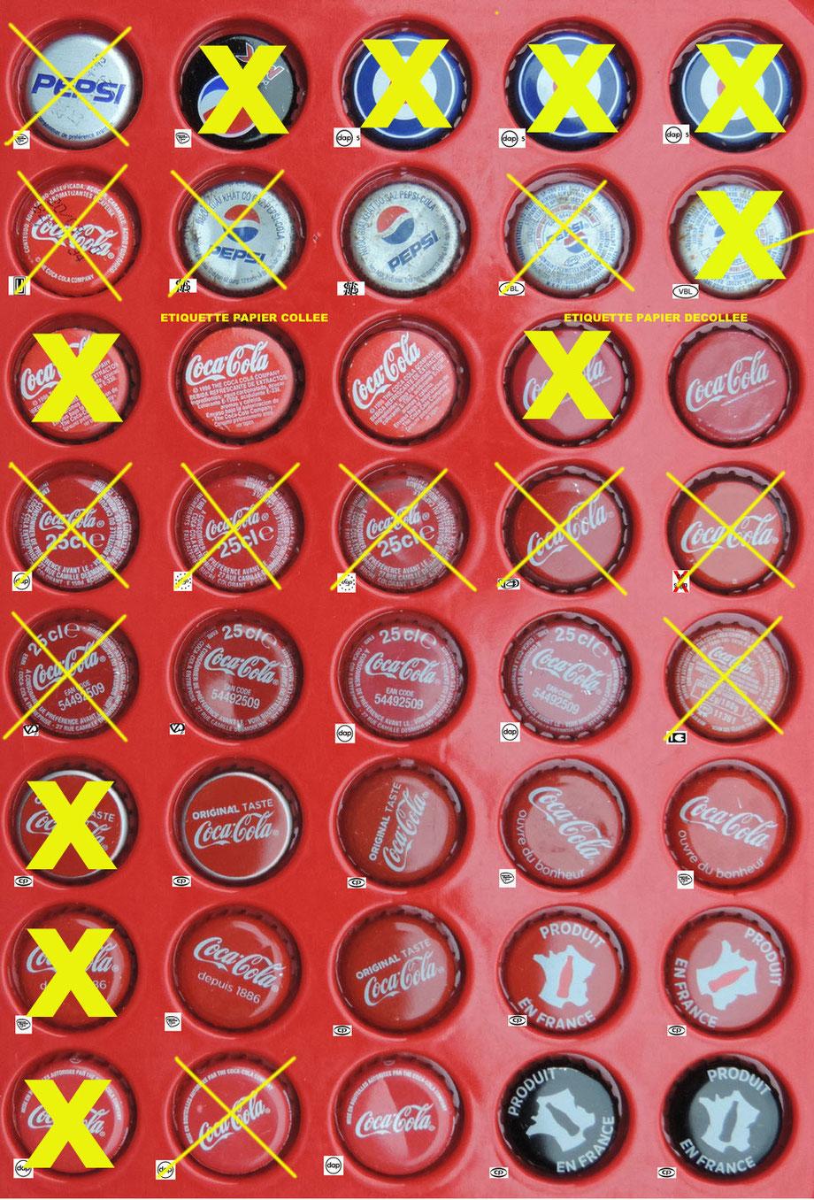 COCA COLA et PEPSI serties (used)
