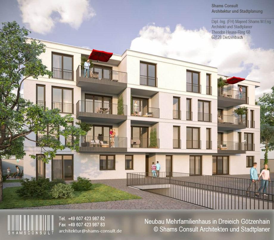 Neubau Mehrfamilienhaus in Dreieich Götzenheim 2021
