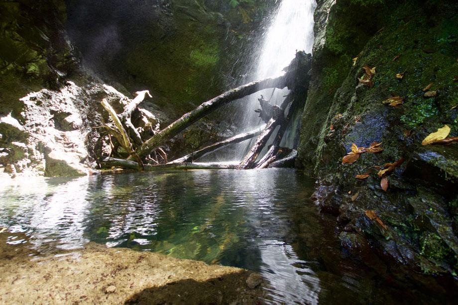 Wasserfall in Abendstimmung