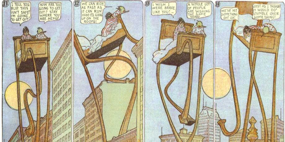 "Auszug aus dem Comic-Strip ""Little Nemo in Slumberland"""