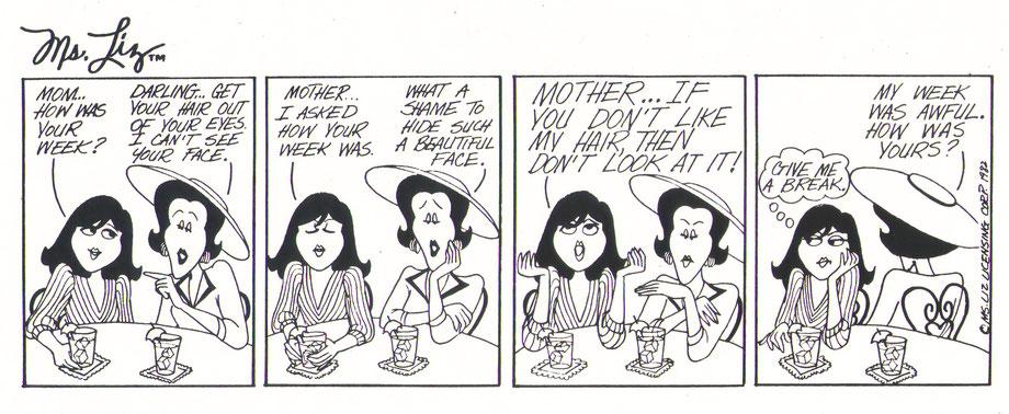 "Comicstrip ""Ms. Liz"" von Barbara Slate"