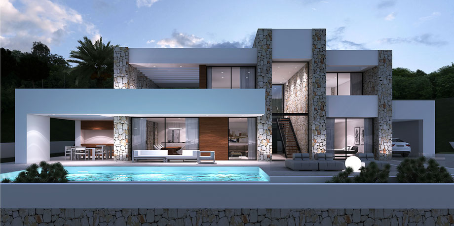 Moderne villa by lifestyle homes ag moderne spanische for Villa modern bauen