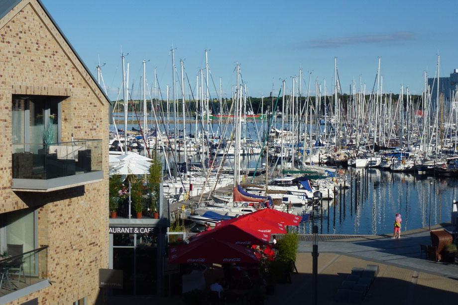 Blick aus der Ferienwohnung 54°NORD in Heiligenhafen