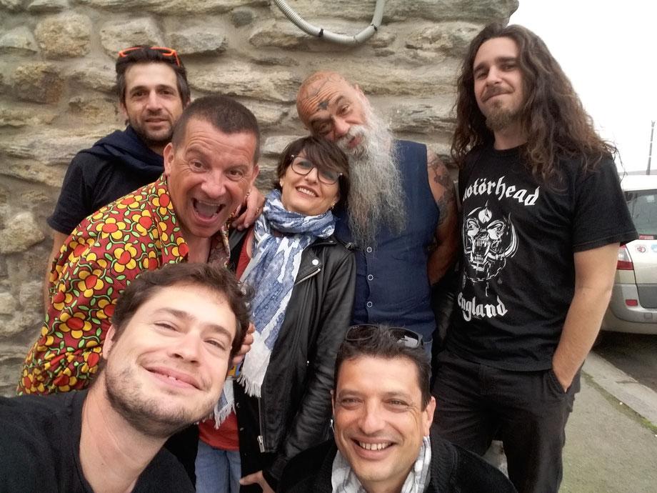 Le matin du retour, avec Marc Bihan, devant les Mélèzes, à Saint Malo !