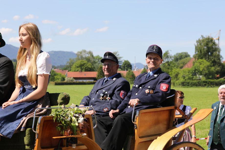 Festumzug der freiwilligen Feuerwehr Übersee