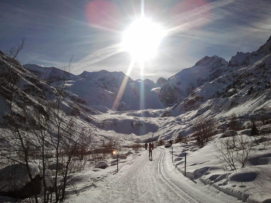 On the way to the Morteratsch glacier