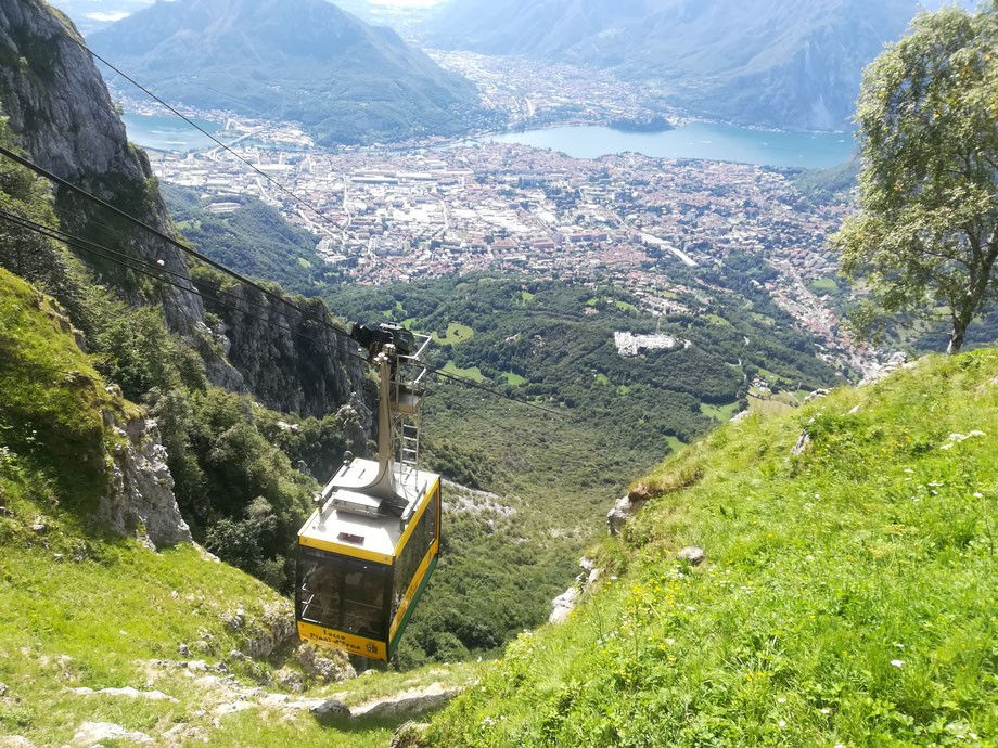 Cableway from Lecco to Piani d'Erna