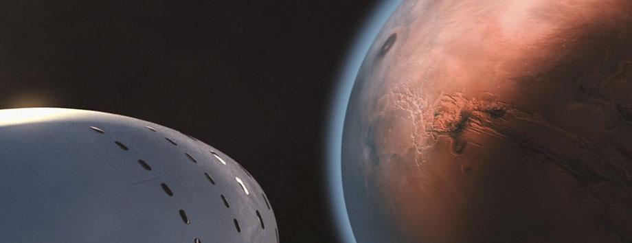 SpaceX BFR (Big Falcon Rocket) Mars Mission (ab 2019 - 2022)