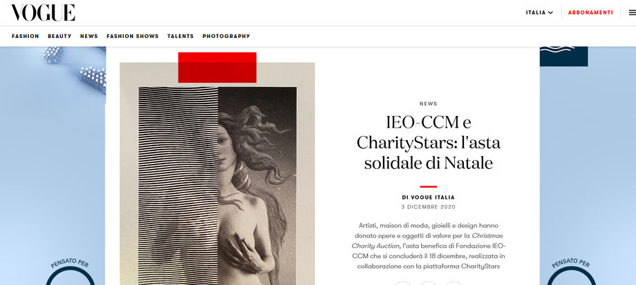 COKI. on Vogue for IEO-CCM Foundation - CharityStars