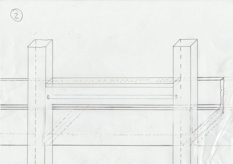 Skizze Steganlage U-Profilbereich