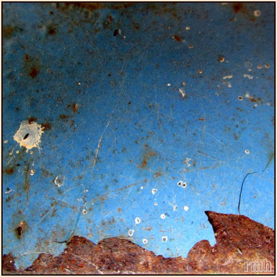 """""""landscape"""", rusty blade of an old garden hoe"""
