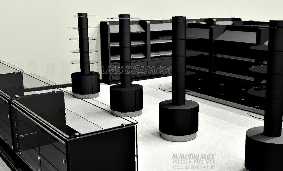 Muebles para perfumes, muebles para joyería, muebles para perfumería, muebles para boutique
