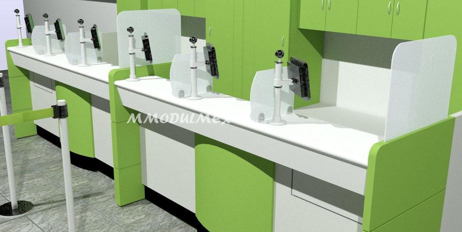 Diseño de mostrador para atención a clientes, Diseño de recepciones
