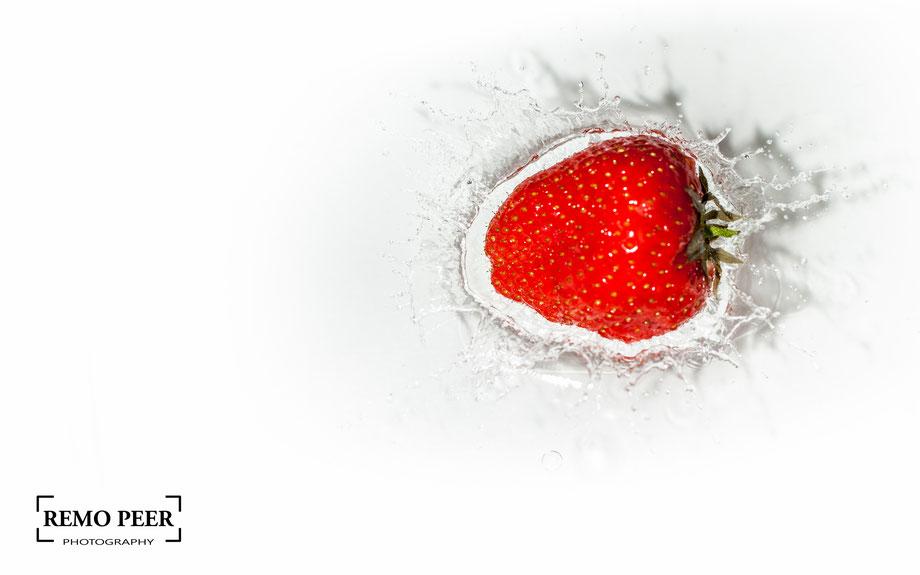 Früchte Splash fotografieren