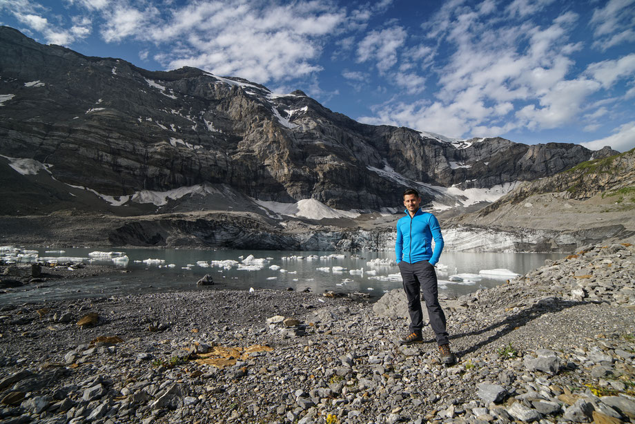 Remo Peer, Biwak am Gletschersee, am Fusse des Clariden