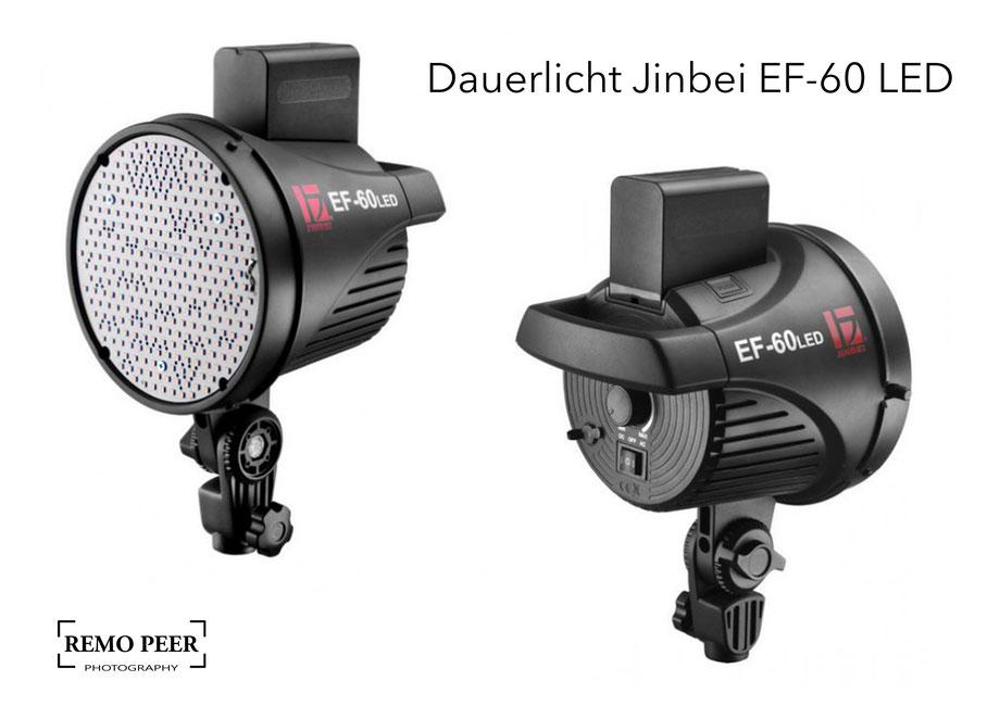 Fotografie-Ausrüstung, mein Tipp für Fotografen: Das Dauerlicht Jinbei EF-60 LED für die Produktfotografie