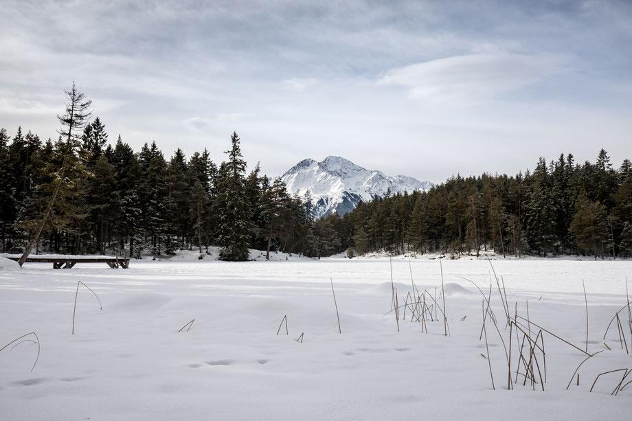 Möserer See im Winter