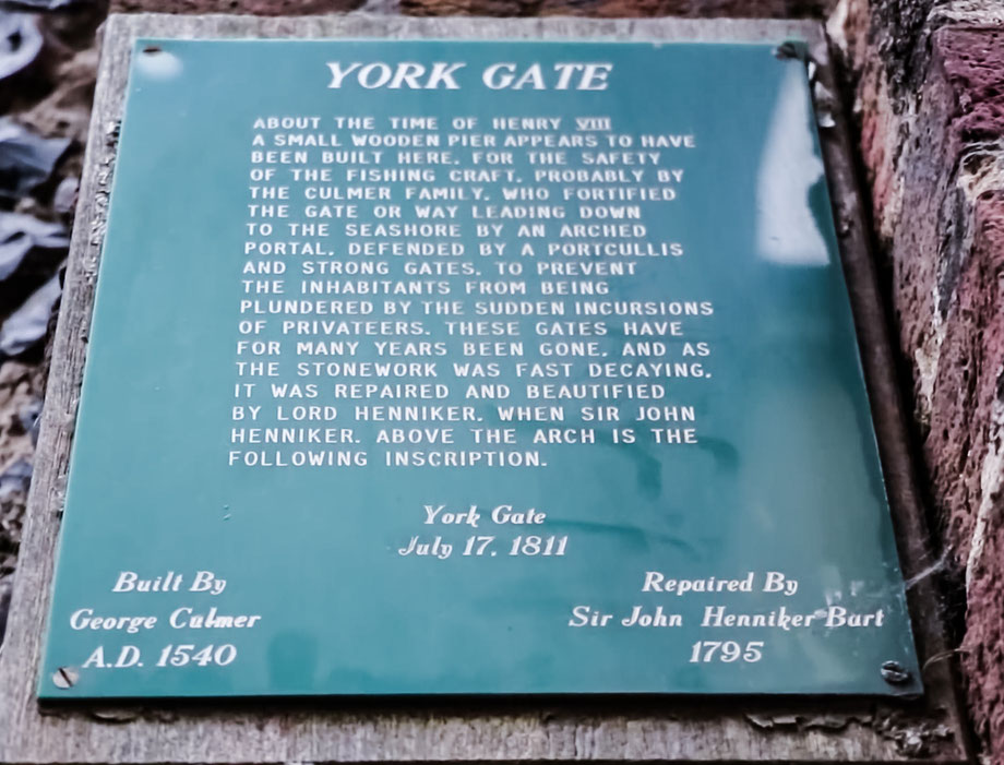 York Gate sign, Harbour Street Broadstairs. Image: Nick Harrison via Flickr