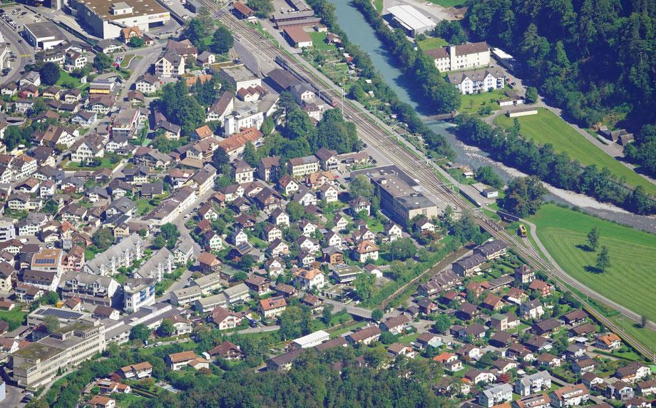 Ennetbachstrasse, oberer und unterer Sandrütiweg am Löntsch; Anfang Mattstrasse. Aufnahme vom 9.9.2020