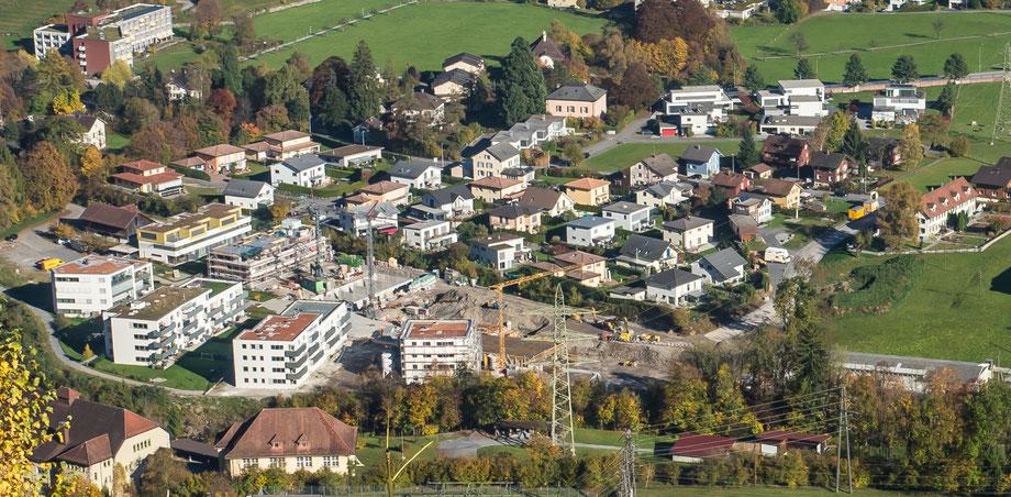 Quartiere Lerchengut/Fuchsgut/Weid  Aufnahme vom 30. Okt. 2016
