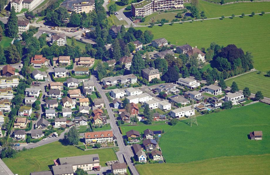 Lerchenstrasse, Fuchsgut, Lerchengut. Aufnahme vom 9.9.2020