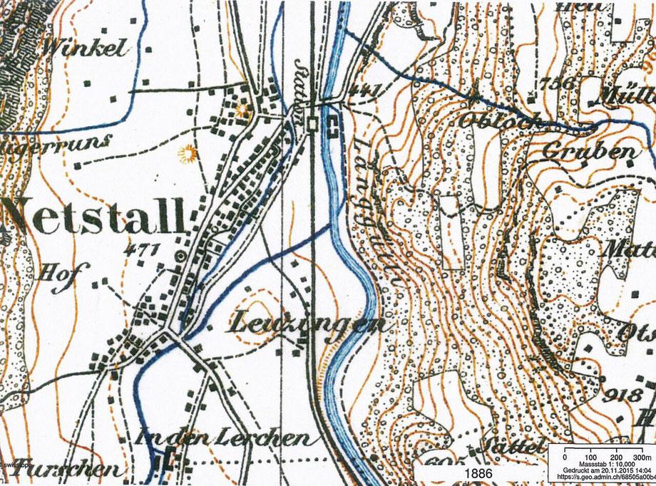 Karte von Netstal 1886