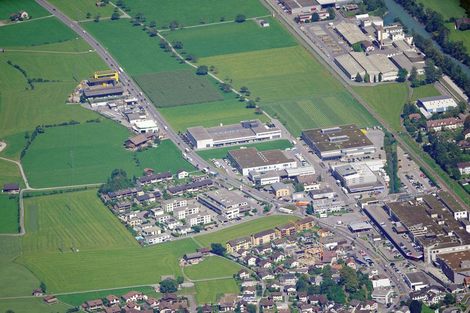 Industrie Nord, Unter Bühl, Klausen, Centro. Aufnahme vom 9.9.2020