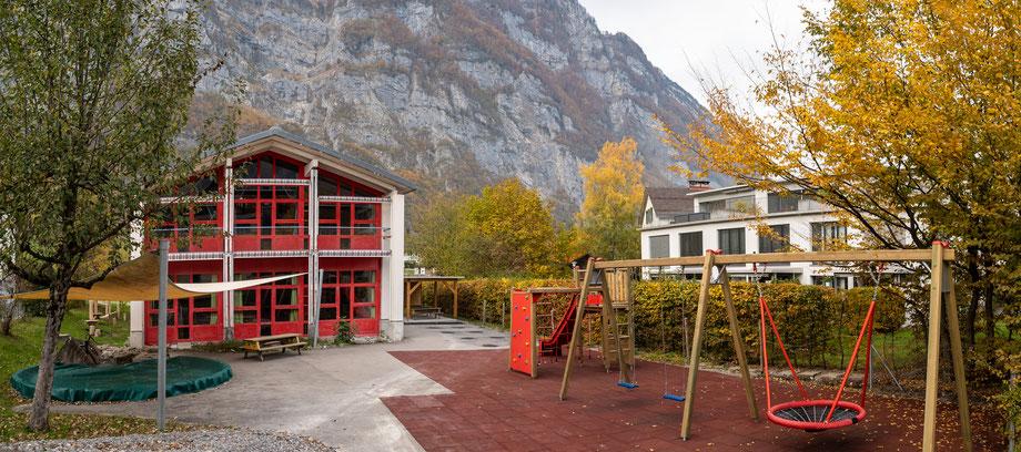 Kindergarten Grünhag 2018      Koordinaten 722623 213531. Aufnahmedatum: 4. November 2018