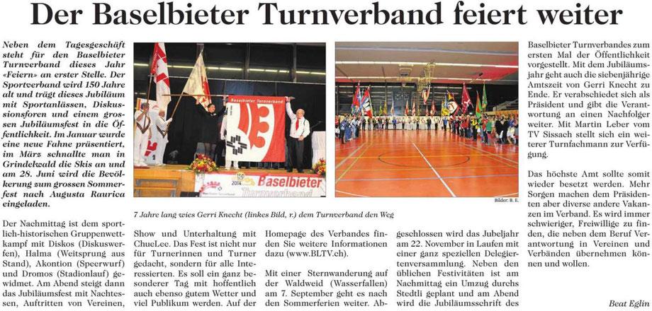 150 Jahre Baselbieter Turnverband / Juni 2014