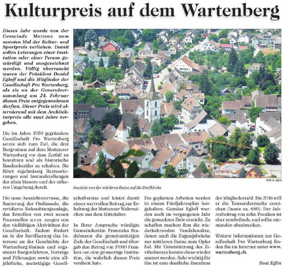 Kulturpreis Wartenberg