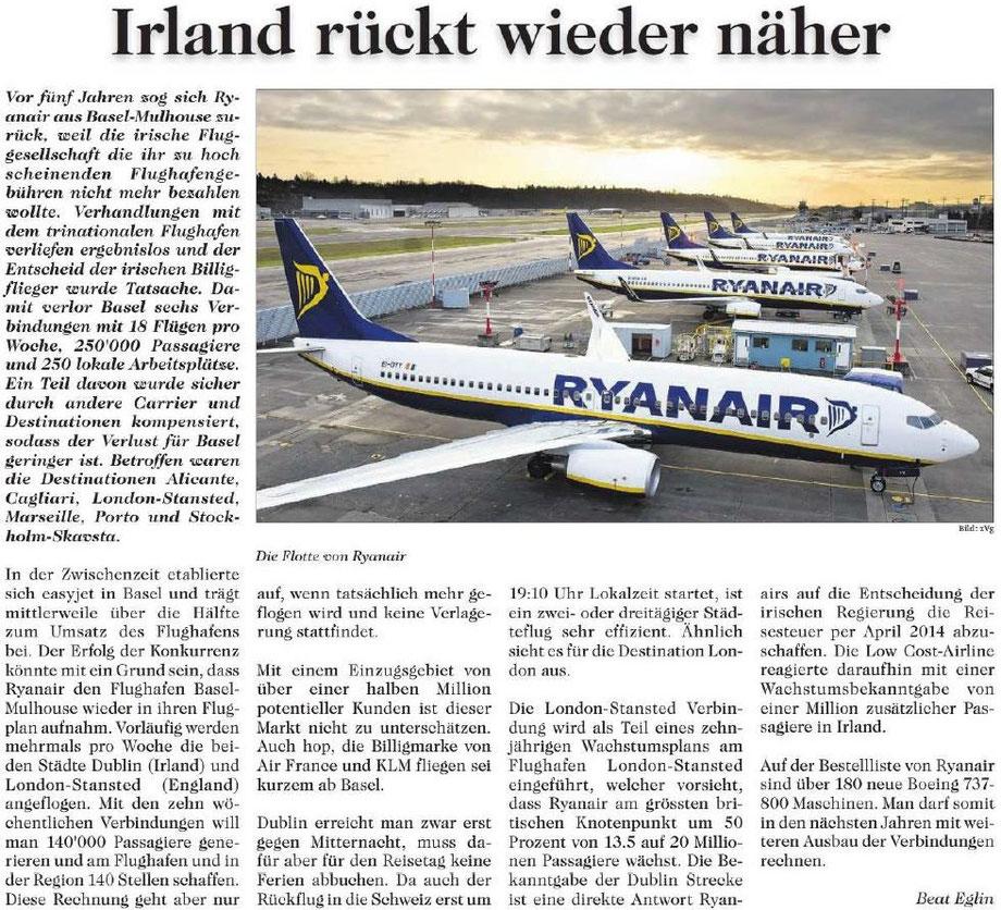 Ryan bringt Irland näher zu Basel