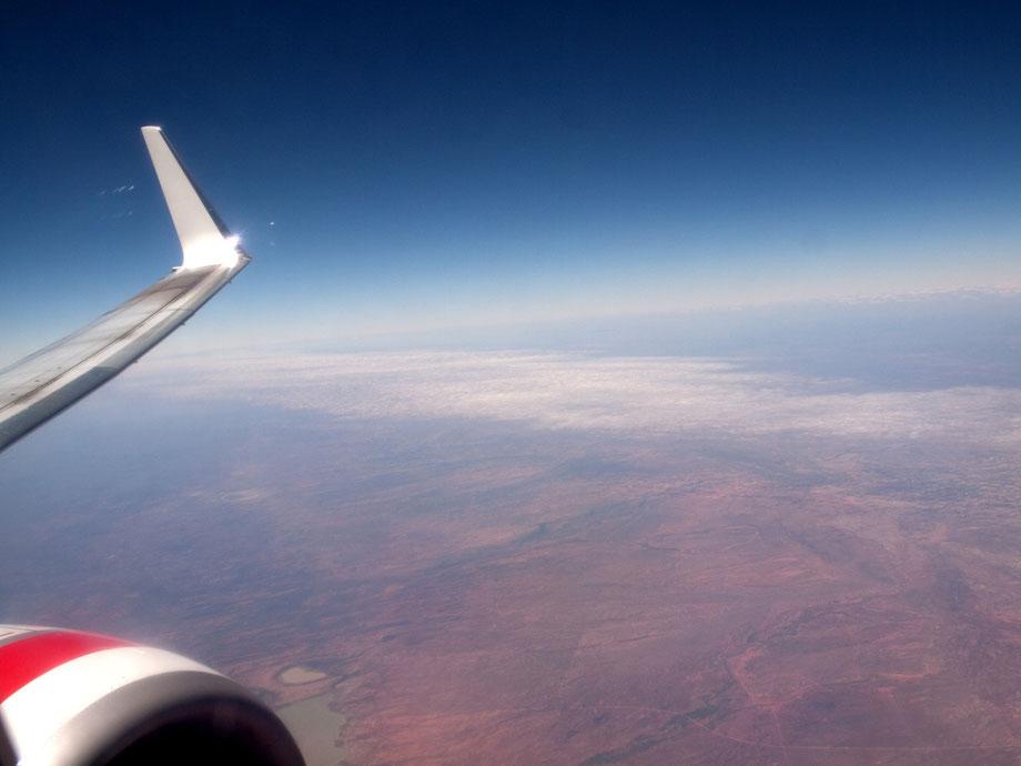 Flying over Australian Desert, QantasLink Boeing 717