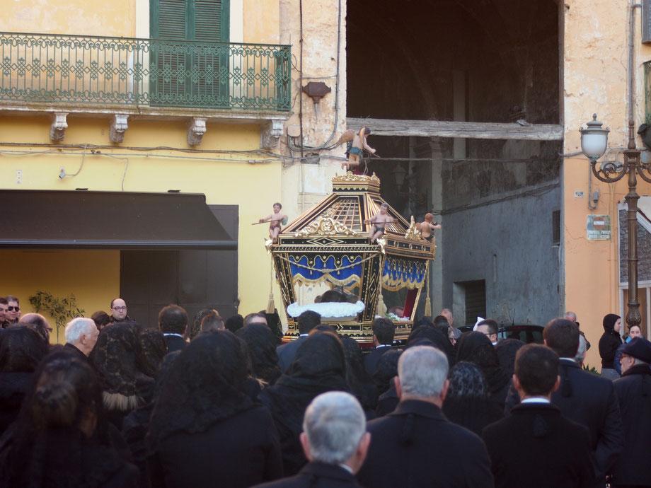 Grottaglie (Taranto), Italy. Processione del Sacri Misteri. Easter 2015