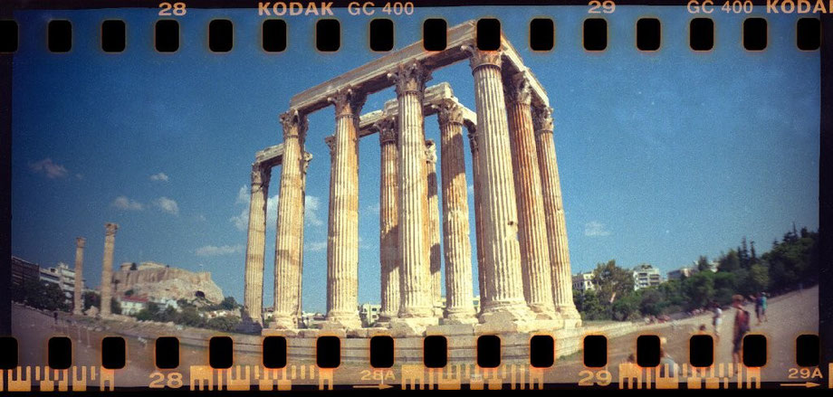 Zeus Temple with Lomography Sprocket Rocket Camera