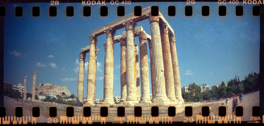 Zeus Temple with Lomography Sprocket Rocket Camera
