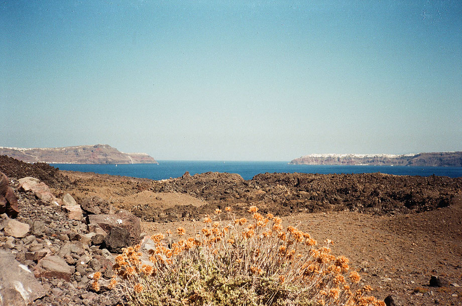 From Caldera II, Santorini (with Minolta Weathermatic 35 and Fujifilm x-tra 400)